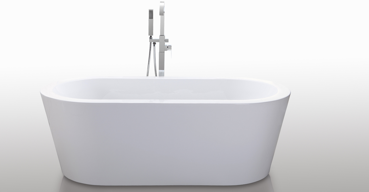 "Pella Bathtub 59"", White"