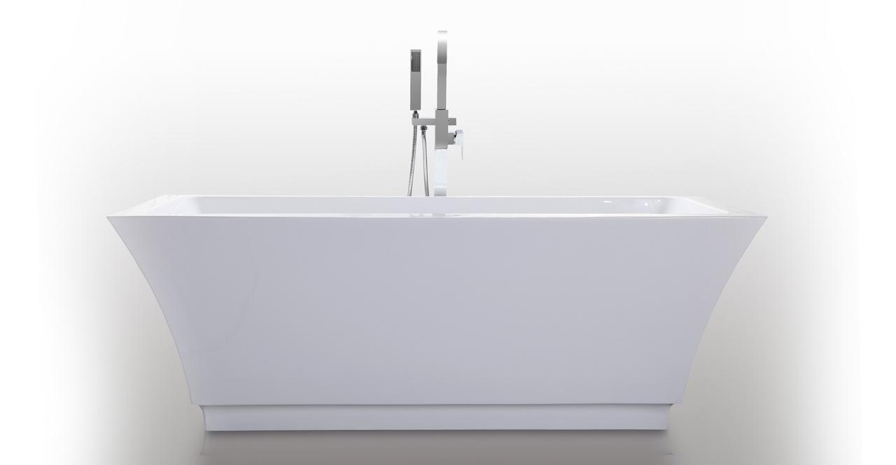 """Pergamon Bathtub 67"""", White"""