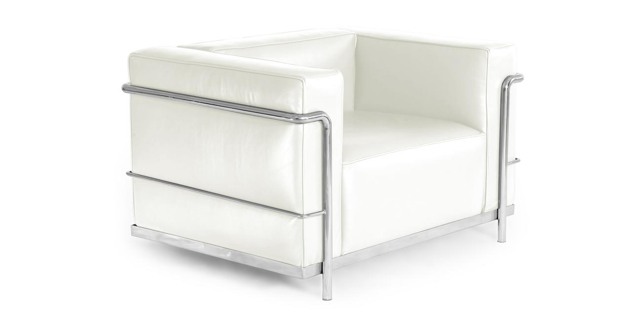 Roche Chair, Ecume White Premium Leather