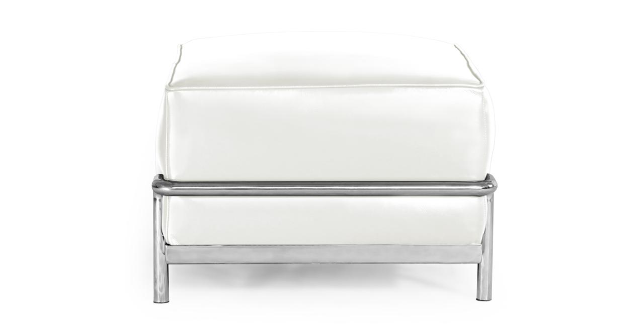 Roche Ottoman, Ecume White Premium Leather