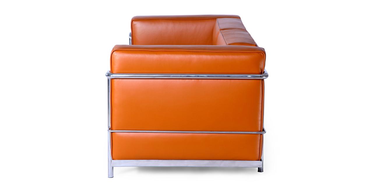 Roche Loveseat, Caramel Premium Leather