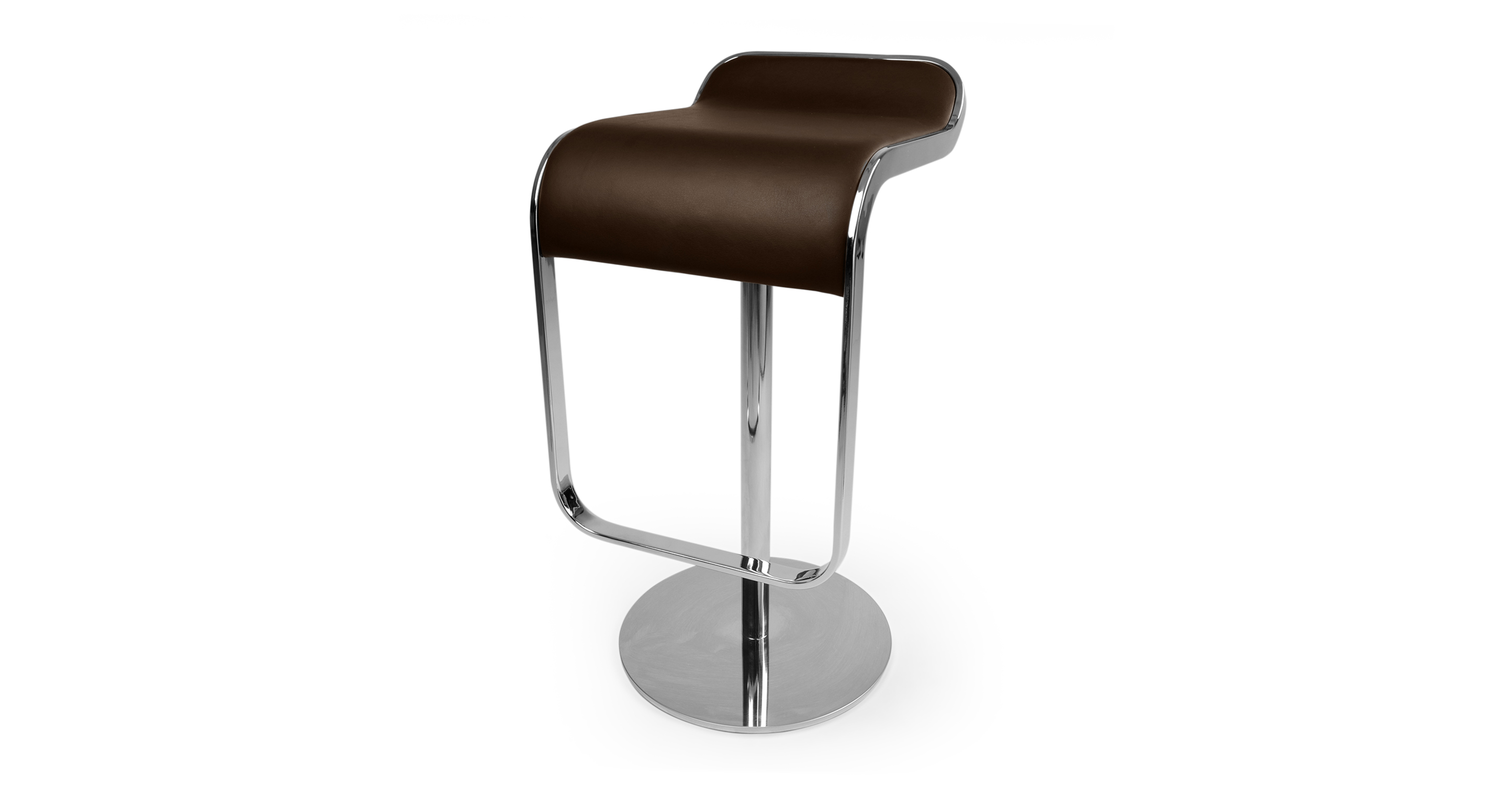 Lem Piston Leather Barstool, Choco Brown