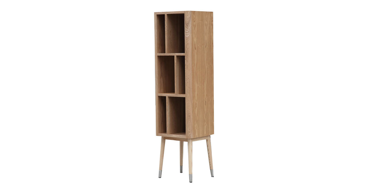 mid century modern upright curio