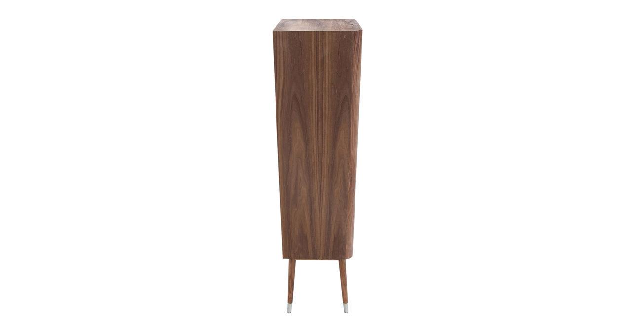 mid century modern elroy upright curio cabinet hutch display