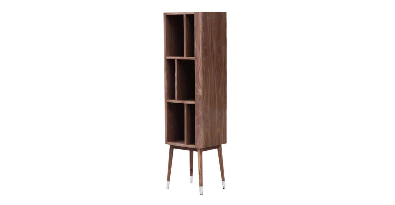 mid century modern bookshelf bookshelves storage hutch curio