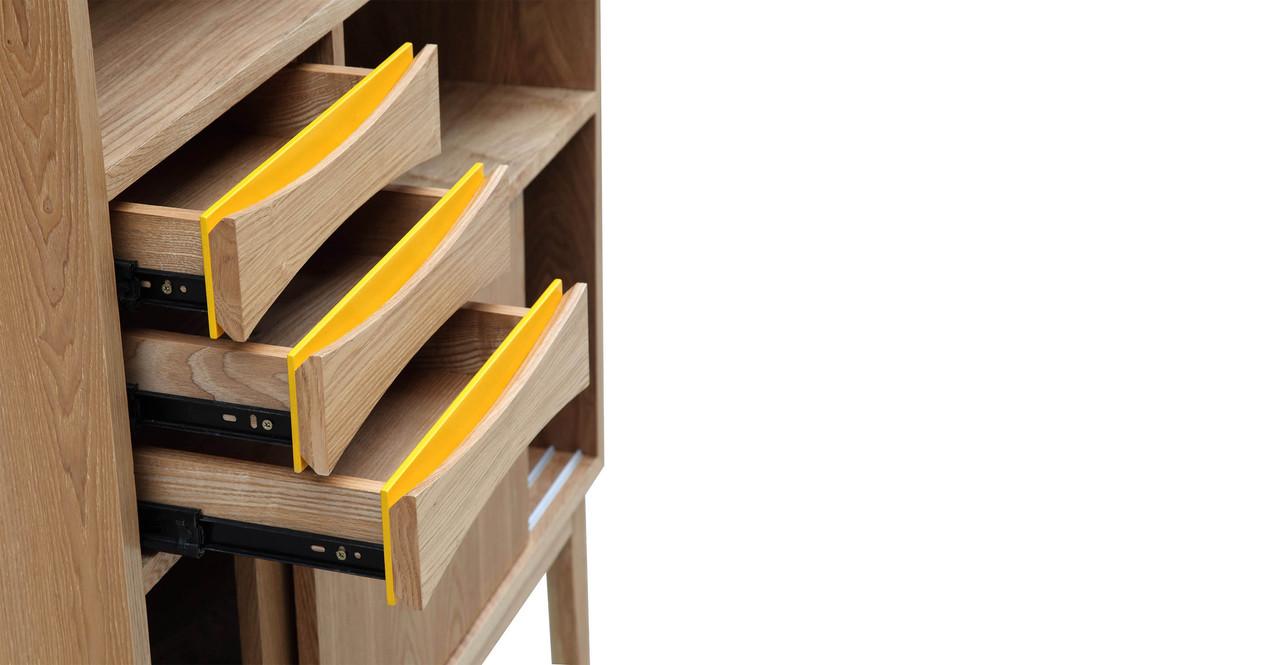 Vodder Upright Cabinet, Ash 37.4