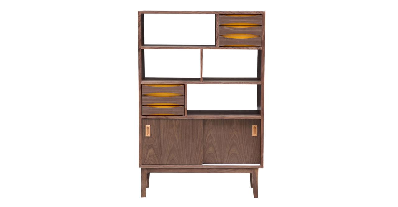 "Vodder Upright Cabinet, Walnut 37.4"""