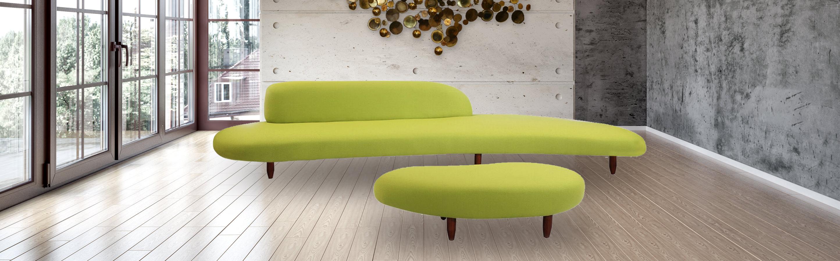 Kidney Bean Mid Century Modern Sofa