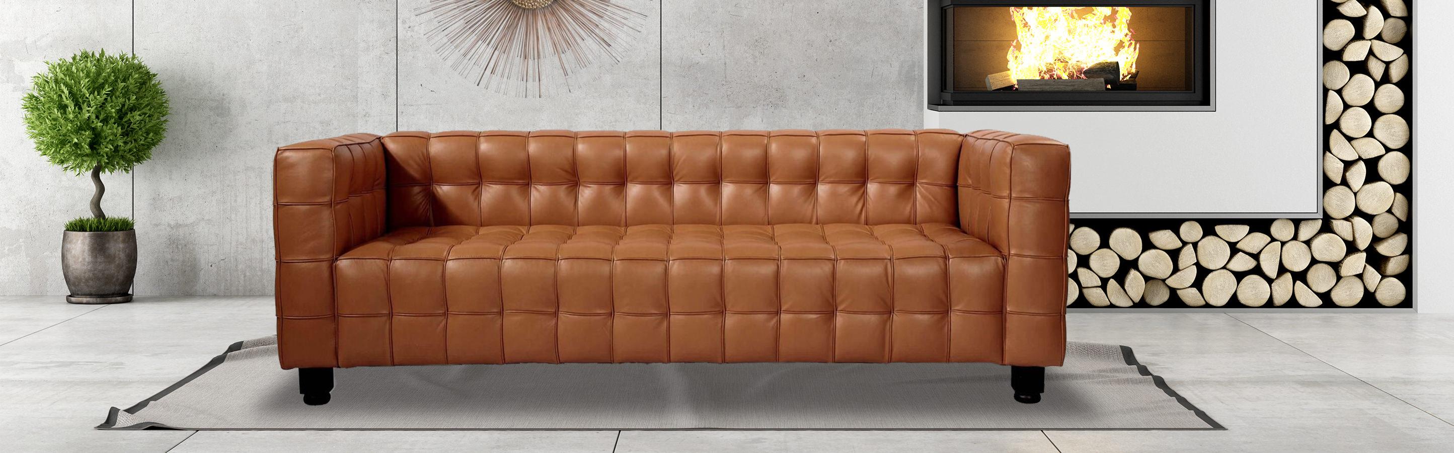 Kubus Mid Century Modern Sofa