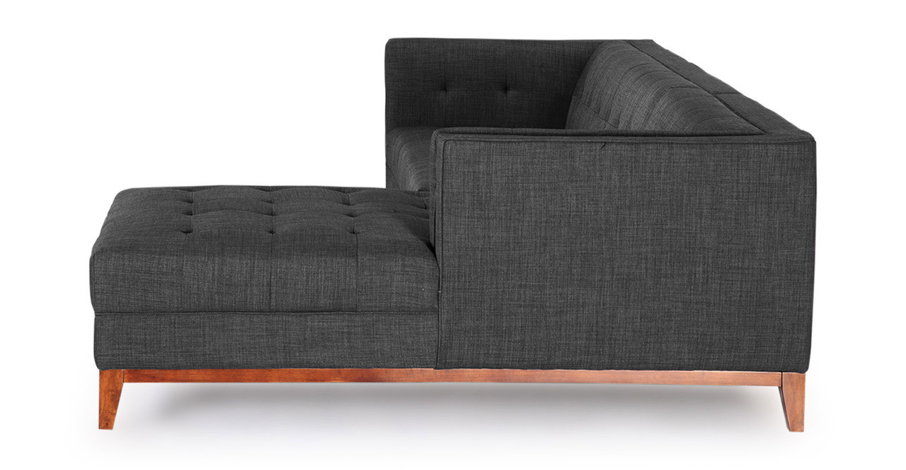 Harrison Chaise Sectional-Right Face, Midnight Oil - Kardiel