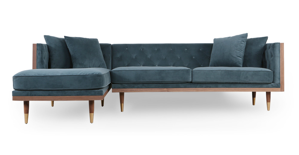 """Shop Woodrow Neo 99"""" Fabric Sofa Sectional Left from Kardiel on Openhaus"""