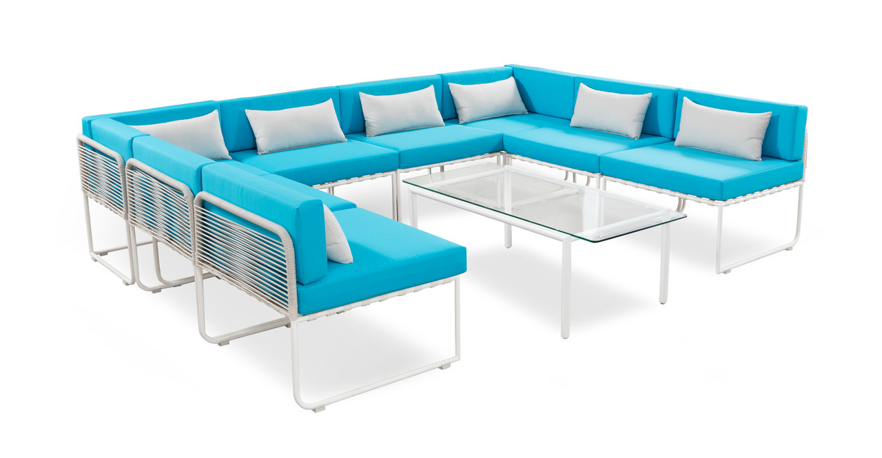 curbed outdoor set