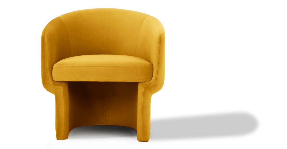 "Shop Ovie 27"" Fabric Chair, Dazzle Velvet from Kardiel on Openhaus"