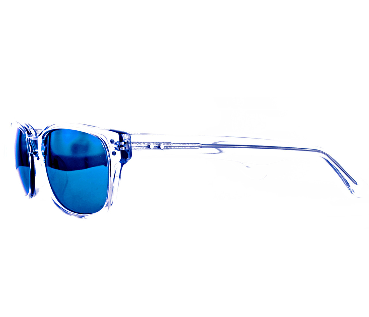 V02 crystal clear with blue mirror lenses Victor Ortiz Collection by GEEK Eyewear®