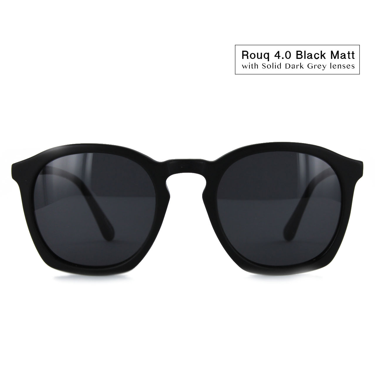 Black Matt with Solid Grey Lenses