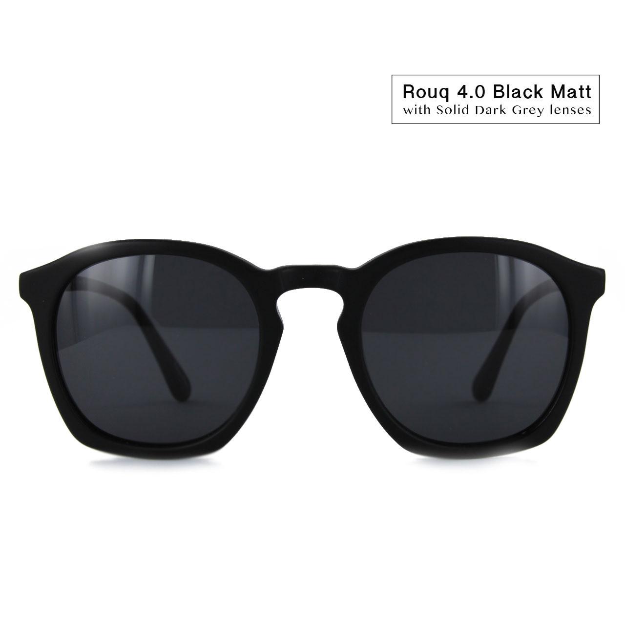 Black Matt with Solid Grey Lenses