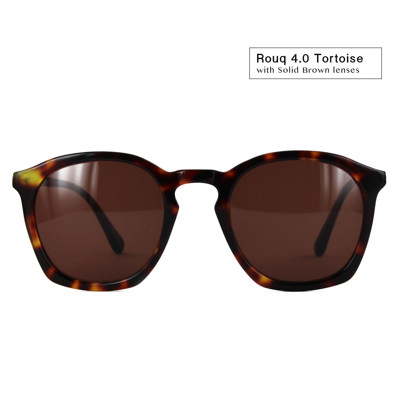 4.0 Tortoise with Solid Brown Lenses