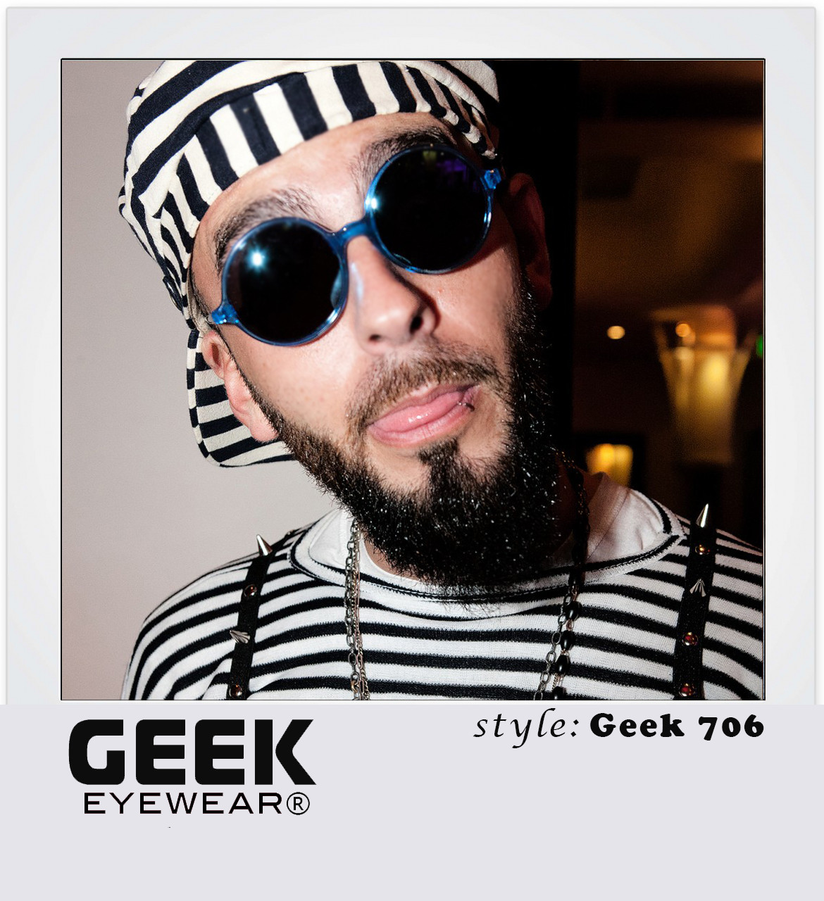 Geek 706 Blue with Blue mirror lenses