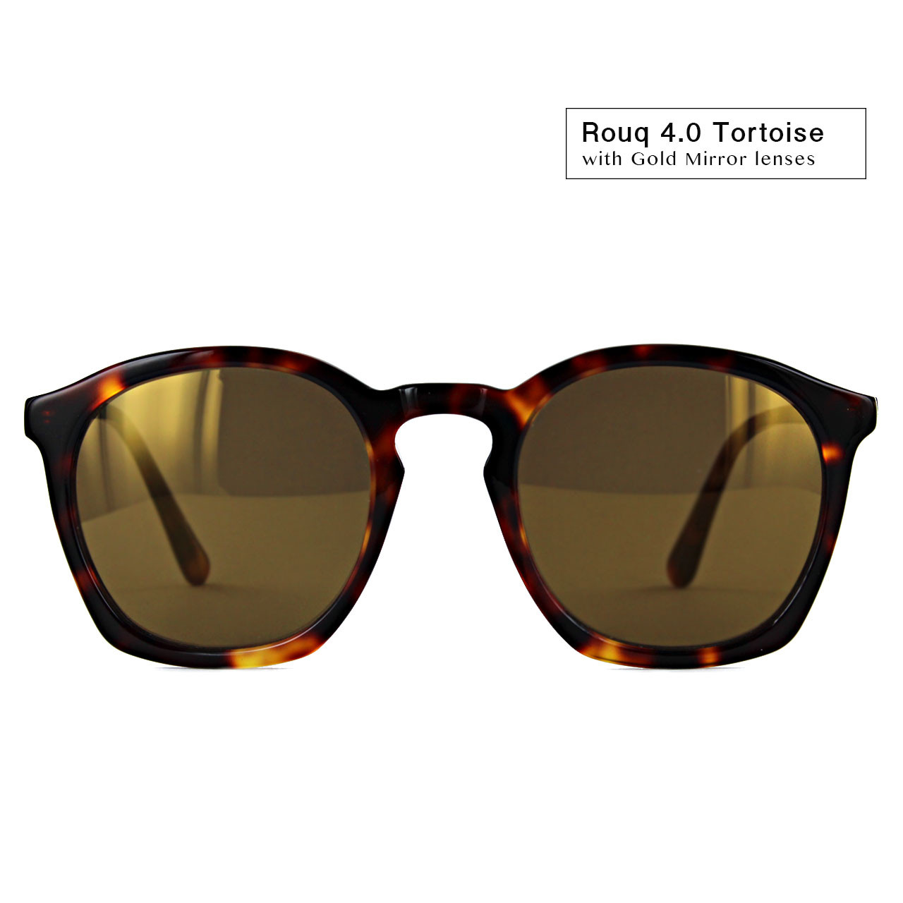 Rouq 4.0 Tortoise with Gold Mirror Lenses