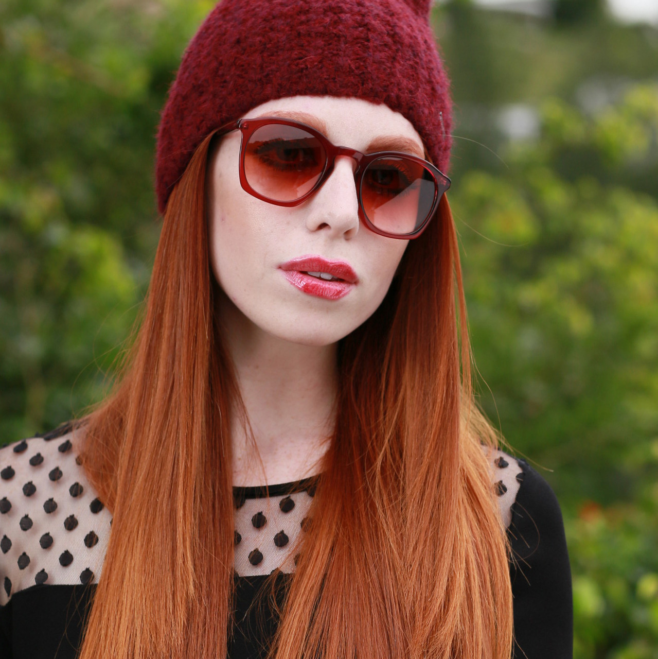 GEEK COUTURE Sunglasses Burgundy