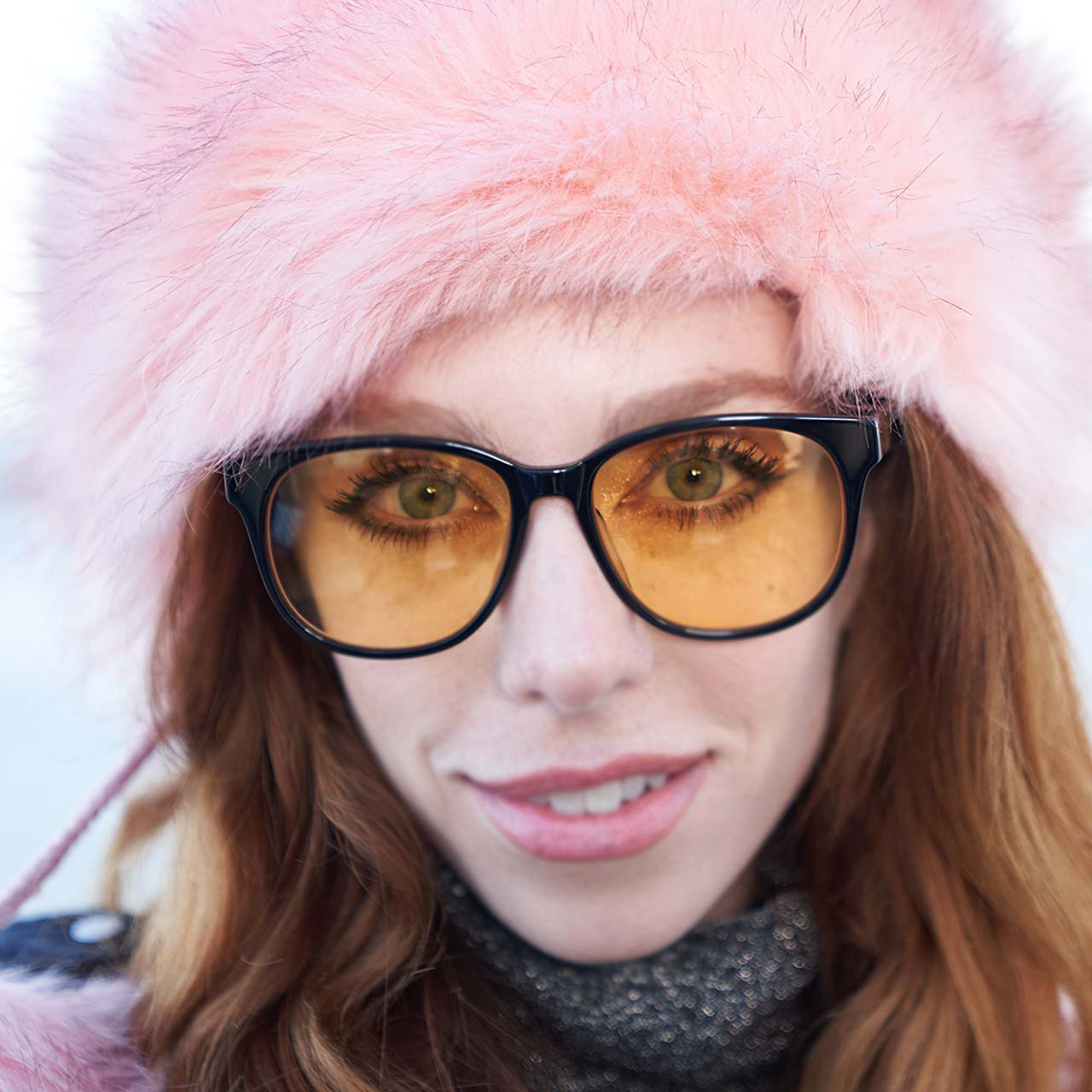 sunglasses with yellow lenses.