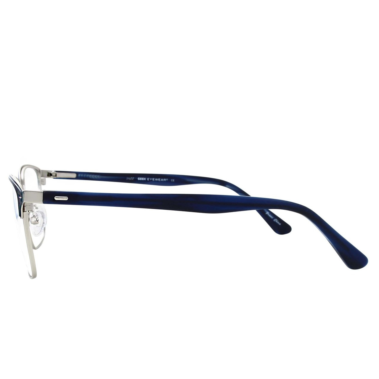 GEEK Eyewear GEEK JAZZ Blue Silver Frame