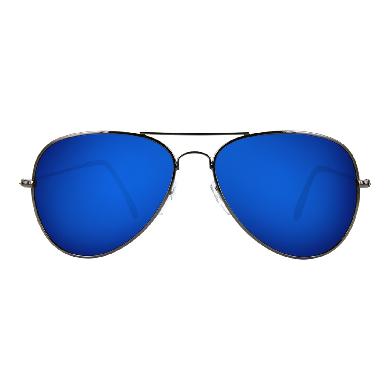 GEEK COUTURE Aviator Sunglasses Blue Mirror