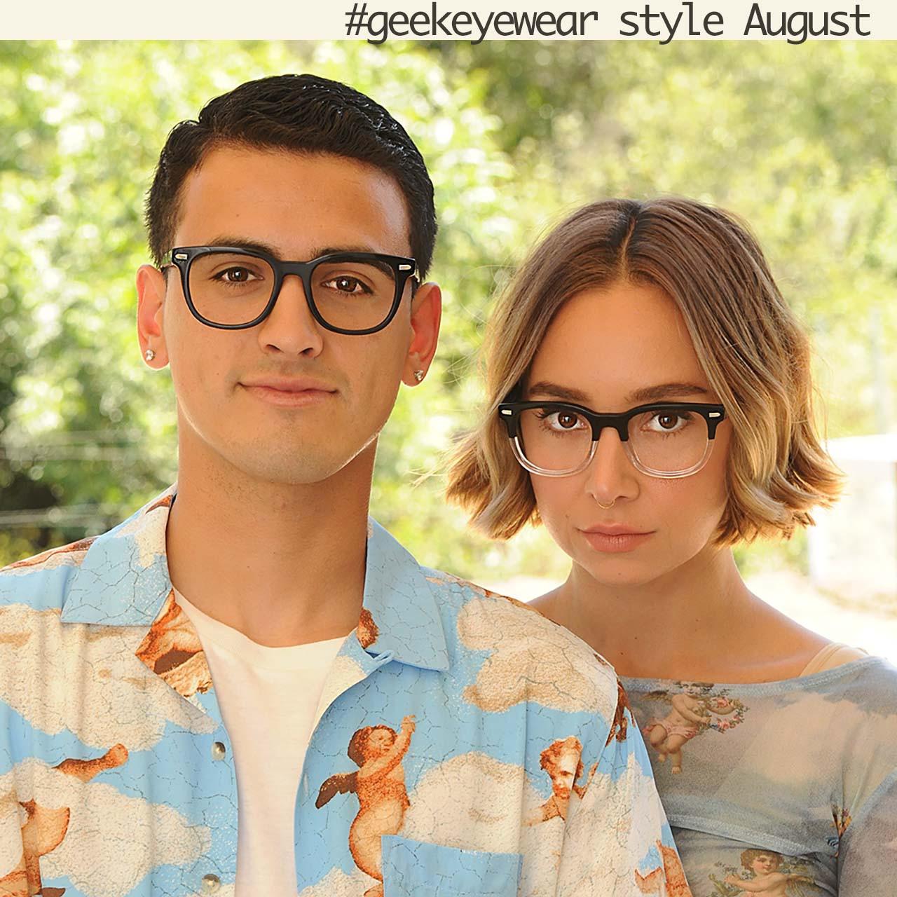 Geek Eyewear style August in Black and Black/Crystal