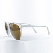 White with Gold Mirror Lenses