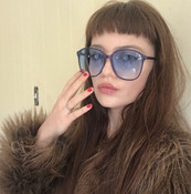 GEEK COUTURE Blue Sunglasses