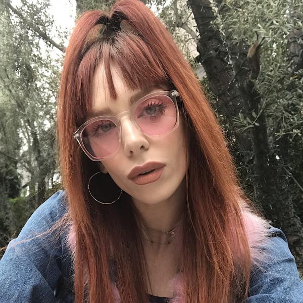 Crystal frame Pink Lenses