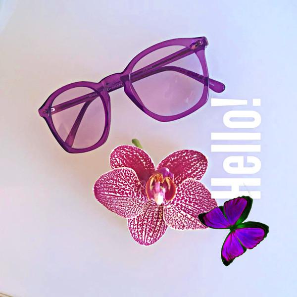 GEEK COUTURE 4 Sunglasses Purple