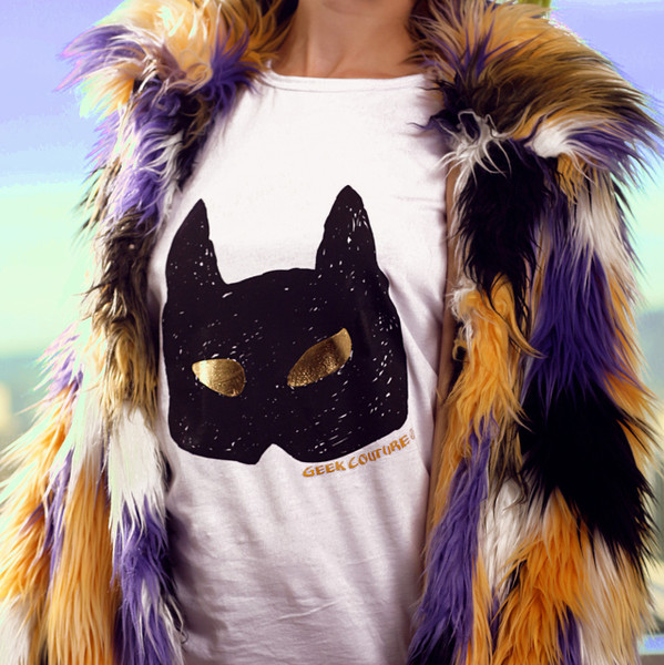 Glow-In-The-Dark Gold Eyes Handmade T-Shirt