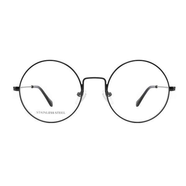 Round Black eyeglasses