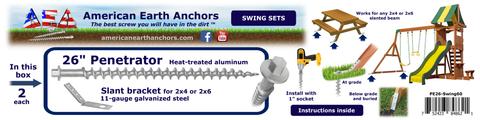 (PE26-Swing60) 26-inch Anchor Kit - Slant Bracket