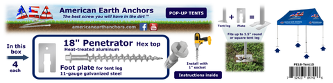 Tent Anchor Kit for Pop-ups and Canopies (PE18-Tent15)