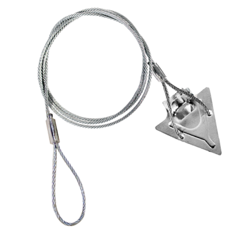 (3ST-36AT) 3-inch steel arrowhead with 36-inch cable and anti-theft loop
