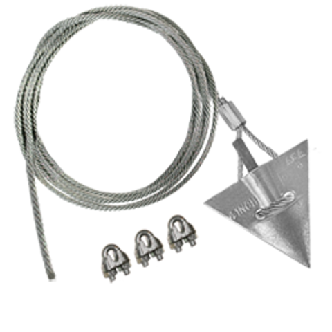(4AL-60CC) 4-inch aluminum arrowhead with 60-inch cable and cable clamps