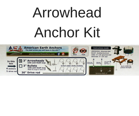 (3ST-36AT-B4) Anti-theft anchor kit - Steel arrowhead