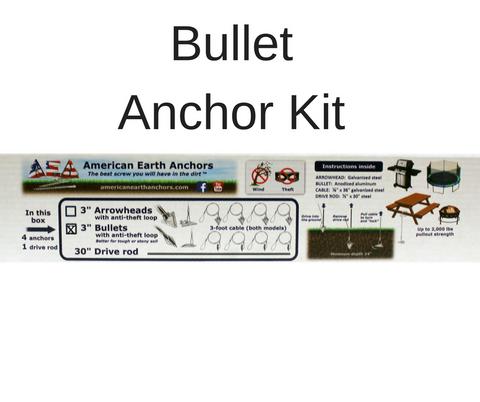 (3AL-36AT-B4) Anti-theft anchor kit - Aluminum bullet
