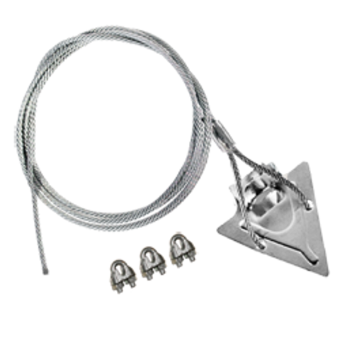 (3ST-120CC) 3-inch steel arrowhead with 120-inch cable and clamps