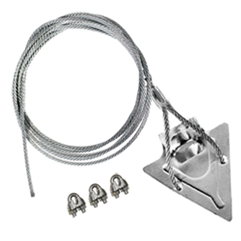 (4ST-120CC) 4-inch steel arrowhead with 120-inch cable and cable clamps