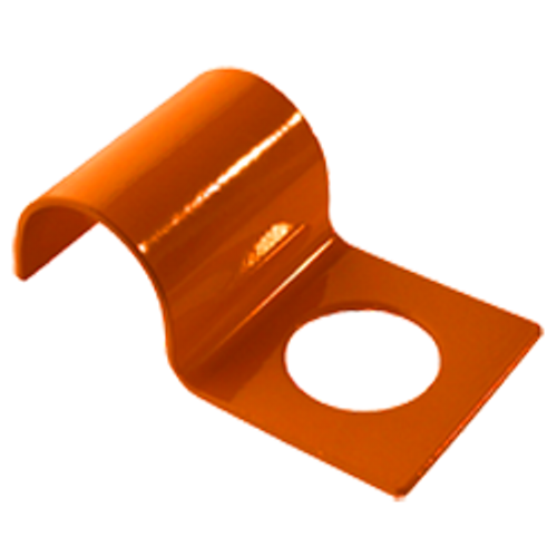 (PE-2P-OR) Penetrator bracket for securing 2-inch or smaller pipe - Safety orange