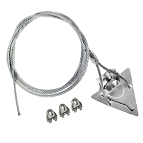 (3ST-60CC) 3-inch steel arrowhead with 60-inch cable and clamps