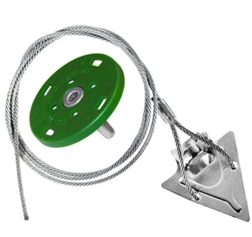 (3ST-36QV-Disk) 3-inch steel arrowhead with 36-inch cable and turf disk