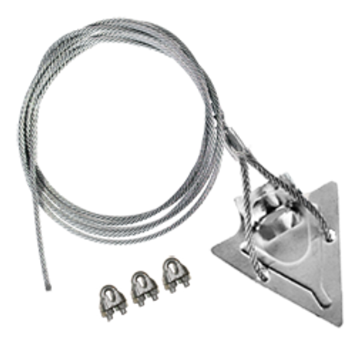 (4ST-60CC) 4-inch steel arrowhead with 60-inch cable and cable clamps