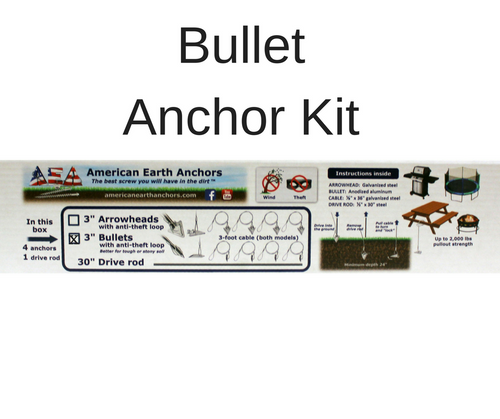 (3AL-36AT-B4) Anti-theft anchor kit - Aluminum bullet