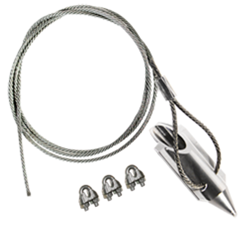 (3AL-120CC) 3-inch bullet with 120-inch cable and cable clamps
