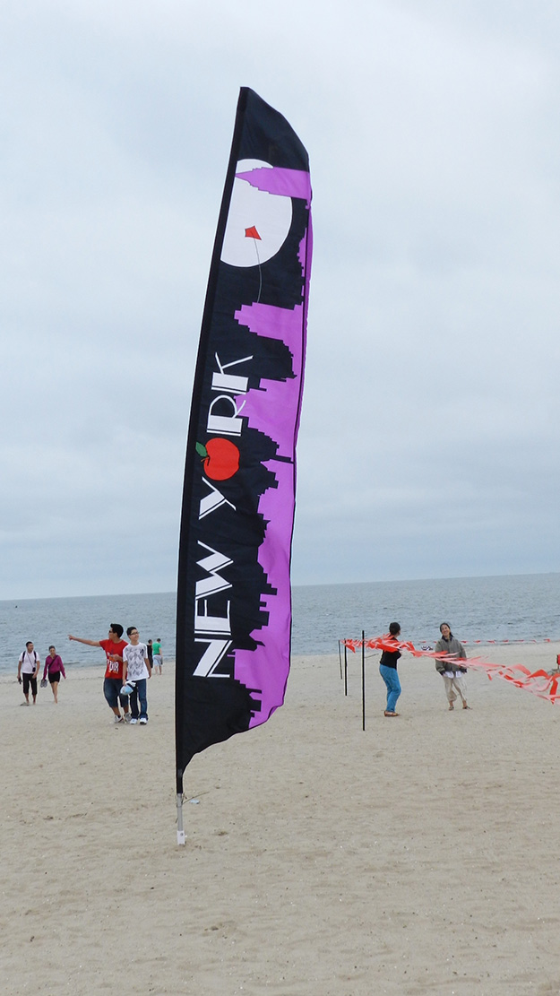 Secure beach banner and wind sails in sand with PE46 Penetrator anchor