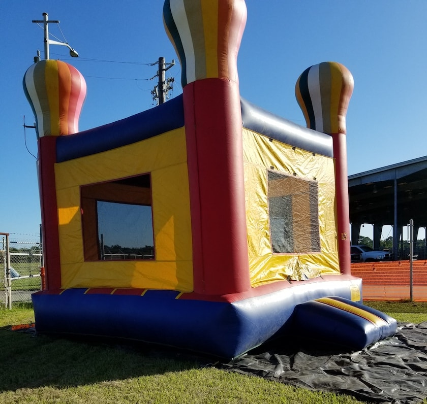 Bounce house anchoring with Penetrators